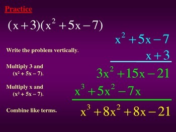 Multiply Polynomials Vertically