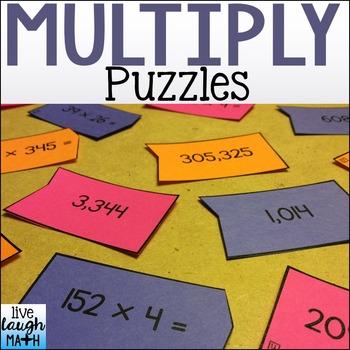 Multiply Puzzles: Multi-Digit Multiplication Math Centers