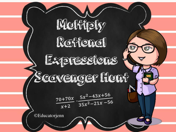 Multiply Rational Numbers Scavenger Hunt