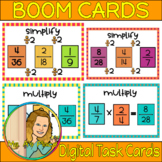Multiply & Simplify Fractions Boom Cards