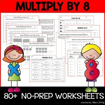 Multiply & Skip Count By 8