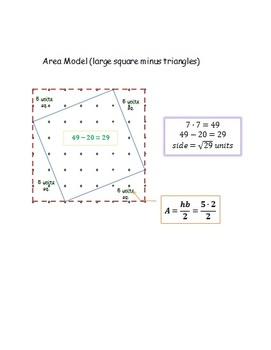 Multiply Strategies for Diagonal Length CC 7.G.6 & 8.G.7