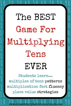 Multiply Tens Game: Multiplying By Multiples of 10!