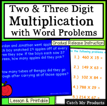 Multiply Three Digit Numbers by Two Digit Numbers for Promethean Board