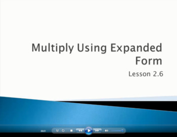 Multiply Using Expanded Form - Grade 4 GoMath Lesson 2.6 (Video)
