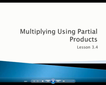 Multiply Using Partial Products - Grade 4 Go Math Lesson 3.4 (Video)