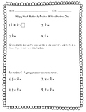 Multiply Whole Number by Fractions and Mixed Numbers