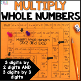 Multiply Whole Numbers (2 digit by 3 digit and 3 digit by 3 digit) Board Game
