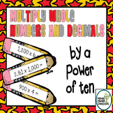 Multiply Power of Ten Whole Numbers and Decimals