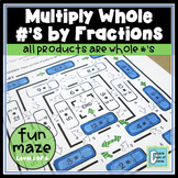 Multiply Whole Numbers by Fractions Maze 1