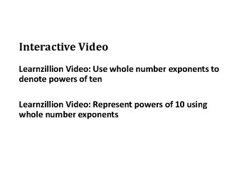 Multiply Whole Numbers by Powers of 10 PowerPoint