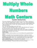 Multiply Whole Numbers (up to 2 digit by 3 digit) Math Centers and Activities