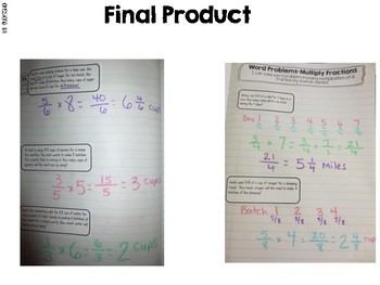 Multiply Whole numbers with Fraction Word Problems