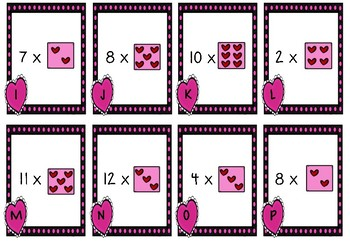 Multiply Your Love Valentine's Day Math Center Scoot