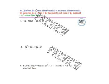 Multiply a Binomial by a Trinomial