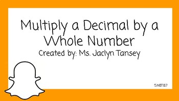 Multiply a Decimal by a Whole Number Halloween Theme