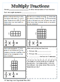 Multiply a Fraction by Fraction with Area Models-Interactive Notebook Page