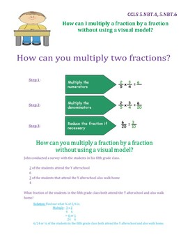 Multiply a Fraction by a Fraction Without a Visual Model InstaChart