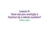 Multiply a Fraction by a Whole Number PowerPoint