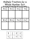 Multiply a Fraction by a Whole Number Sort