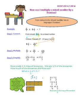 Multiply a Mixed Number by a Fraction InstaChart