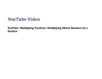 Multiply a Mixed Number by a Fraction PowerPoint