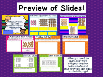 Multiply a Whole and a Fraction Interactive Google Classroom Activity TEKS 5.3I