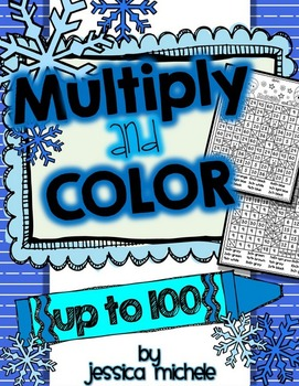 Multiply and Color Hidden Pictures {Winter}