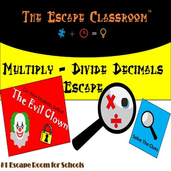 Multiply and Divide Decimals Escape Room