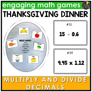 Multiply and Divide Decimals Thanksgiving Game