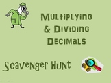 Multiply and Divide Decimals Scavenger Hunt