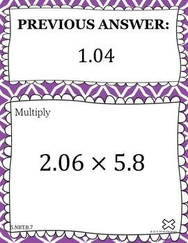 Multiply and Divide Decimals - Scavenger Hunt (5.NBT.B.7)