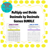 Multiply and Divide Decimals by Decimals GAME BUNDLE
