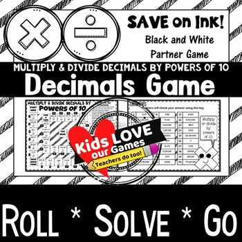Multiply Decimals by Powers of 10 Game (and Divide): 5th Grade Math Game