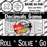 Multiply Decimals by Powers of 10 Game (and Divide): 5th G