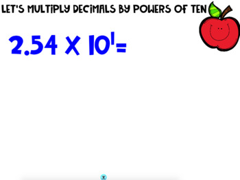 Multiply and Divide Decimals by Powers of Ten Interactive Board Slides