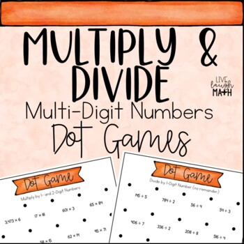 Multiply and Divide Math Centers: Dot Games