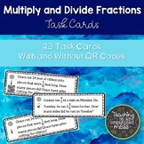 Multiply and Divide Fraction Word Problems Task Cards