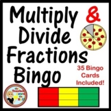 Fractions - Multiply and Divide Fractions Bingo w/ 35 Bingo Cards!