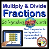 Multiply and Divide Fractions - BOOM Cards!  (24 Cards)