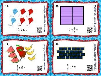 FRACTIONS- Mult./Div. Fractions BUNDLE- Bingo/Task Cards/Worksheets