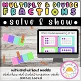 Multiply and Divide Fractions Clip and Flip 5.3I, 5.3J, 5.3L