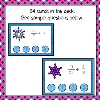 Multiply and Divide Fractions Digital Interactive Boom Cards Distance Learning