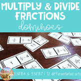 Multiply and Divide Fractions Dominoes