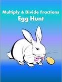 Multiply and Divide Fractions Easter Egg Hunt