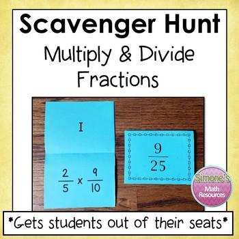 Multiply and Divide Fractions Scavenger Hunt
