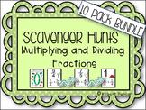 Fractions: Multiply and Divide - Scavenger Hunts 10-Pack