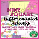Multiply and Divide Fractions, Whole Numbers and Mixed Num
