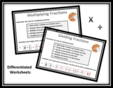 Multiply and Divide Fractions Worksheets