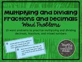 Multiply and Divide Fractions and Decimals Word Problems